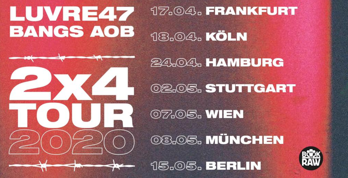 Tickets Luvre47 x Bangs, 2x4 Tour 2020 in Frankfurt am Main
